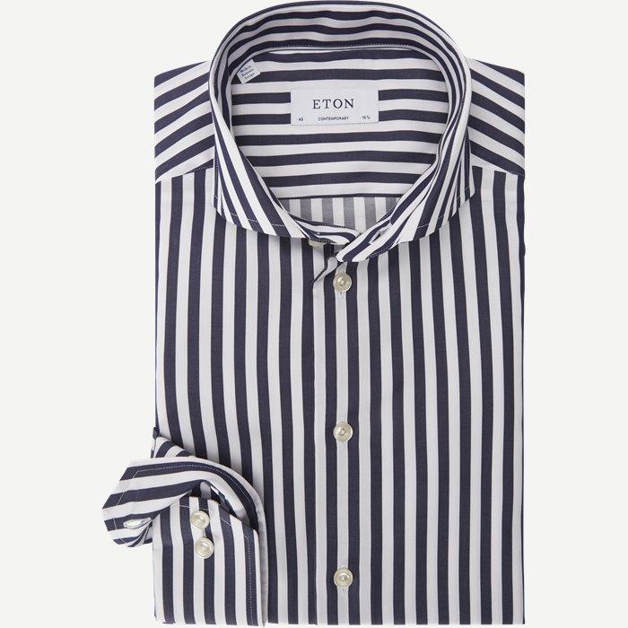 1109 Satin Skjorte - Skjorter - Blå