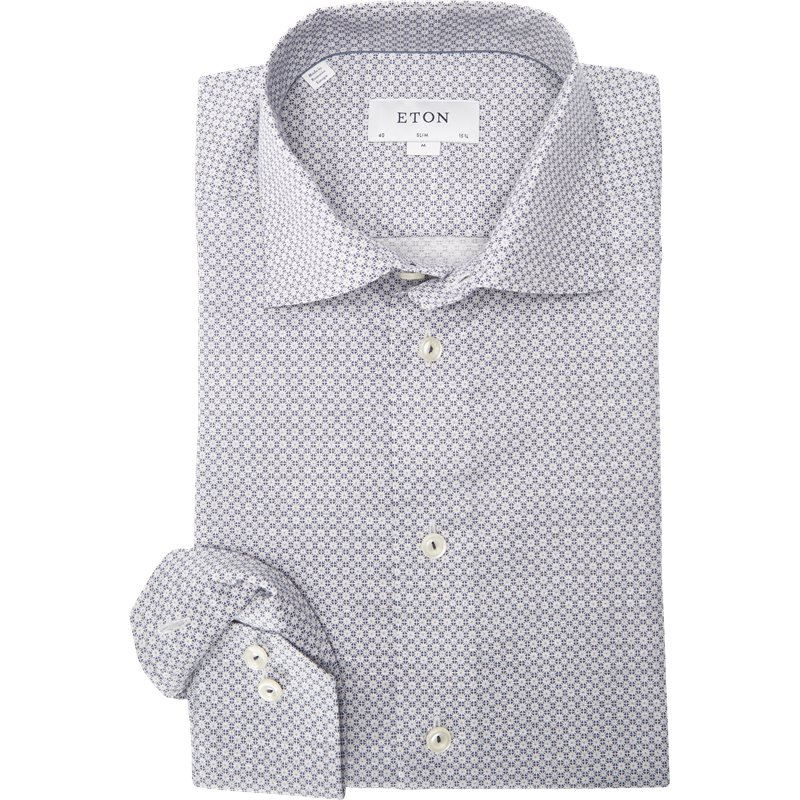 Eton - Blomstret Signature Twill Skjorte