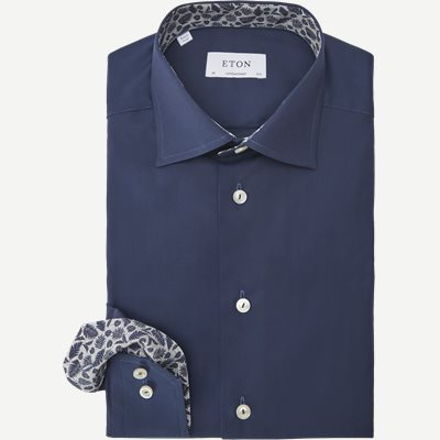 Poplin Skjorte Poplin Skjorte   Blå