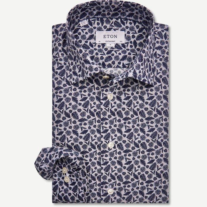 2718 Poplin Skjorte - Skjorter - Blå