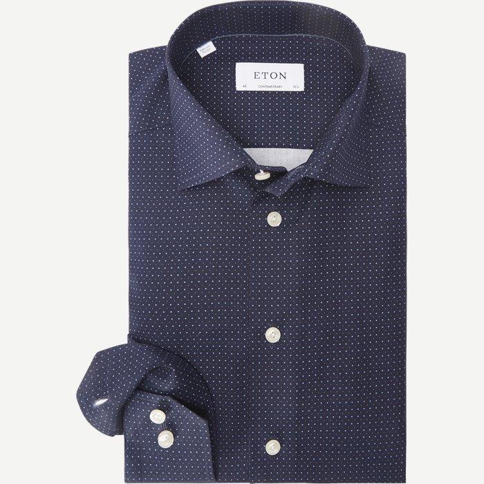 2078 Poplin Skjorte - Skjorter - Blå