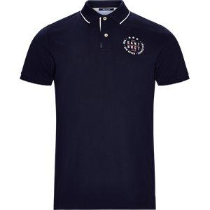 Pique Polo T-shirt Regular   Pique Polo T-shirt   Blå