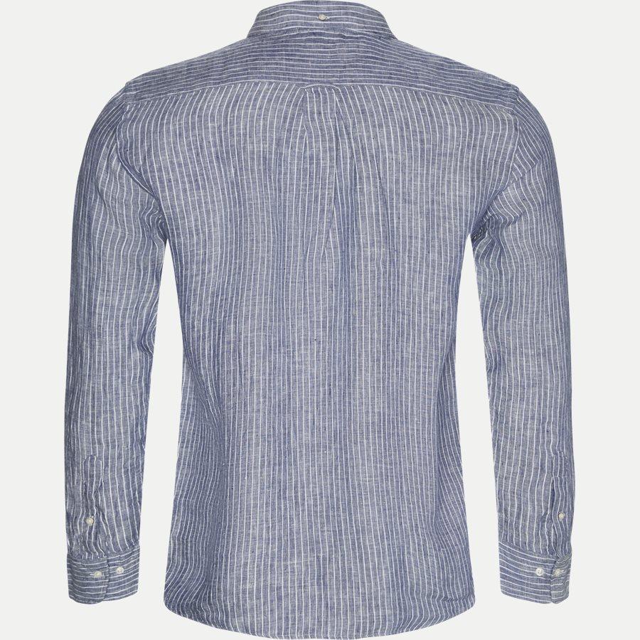 3040720 - Linen Pinstripe Skjorte - Skjorter - Regular - BLÅ - 2