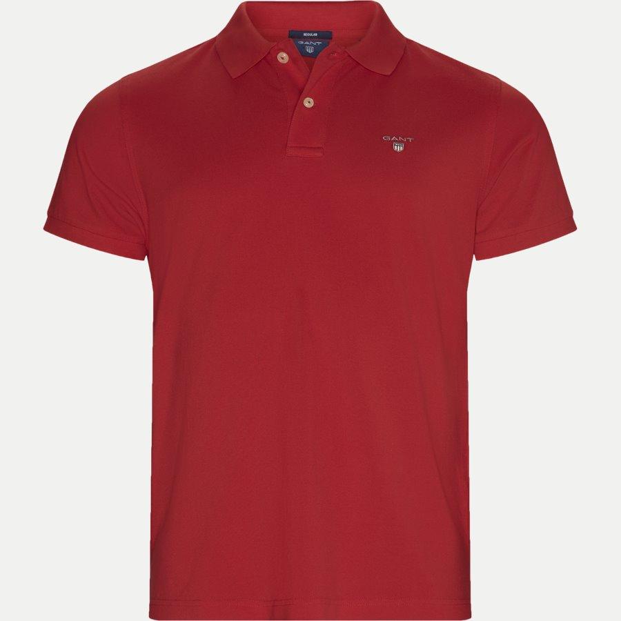 2201.. - Pique Polo T-shirt - T-shirts - Regular - RØD - 1