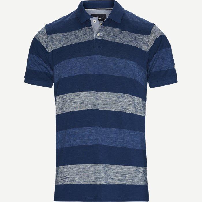 Pique Polo - T-shirts - Regular - Blå