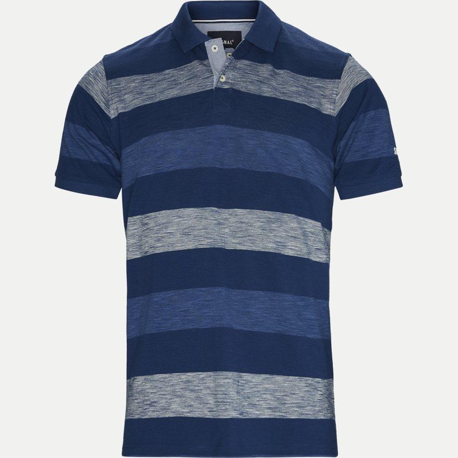 13257 966  - Pique Polo - T-shirts - Regular - BLÅ - 1