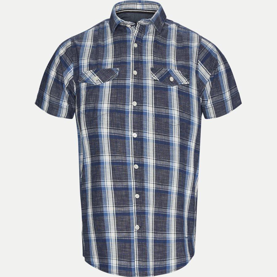 15238 941  - Kortærmet Skjorte - Skjorter - Regular - BLÅ - 1