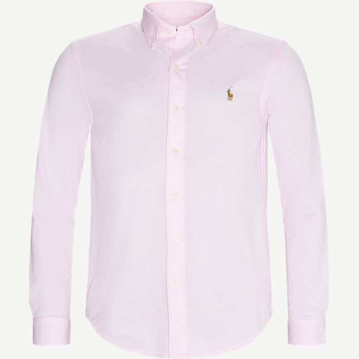 Knit Oxford Shirt - Skjorter - Regular - Pink
