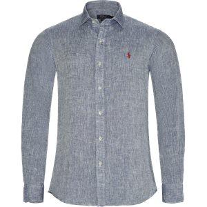 Linen Shirt Slim | Linen Shirt | Blå