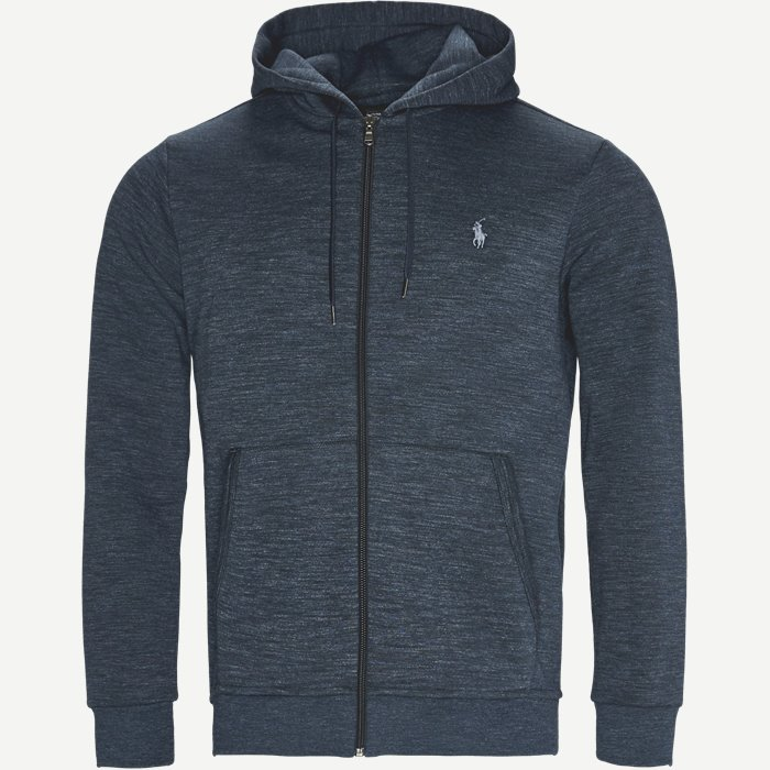 Tech Full Zip Hoodie - Sweatshirts - Regular - Blå
