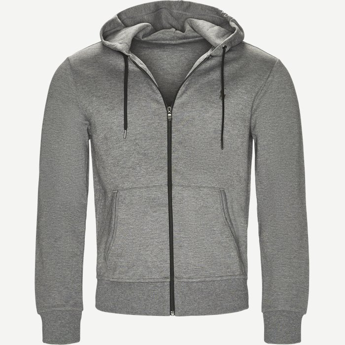 Tech Full Zip Hoodie - Sweatshirts - Regular - Grå