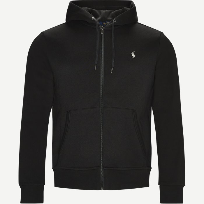Tech Full Zip Hoodie - Sweatshirts - Regular - Sort