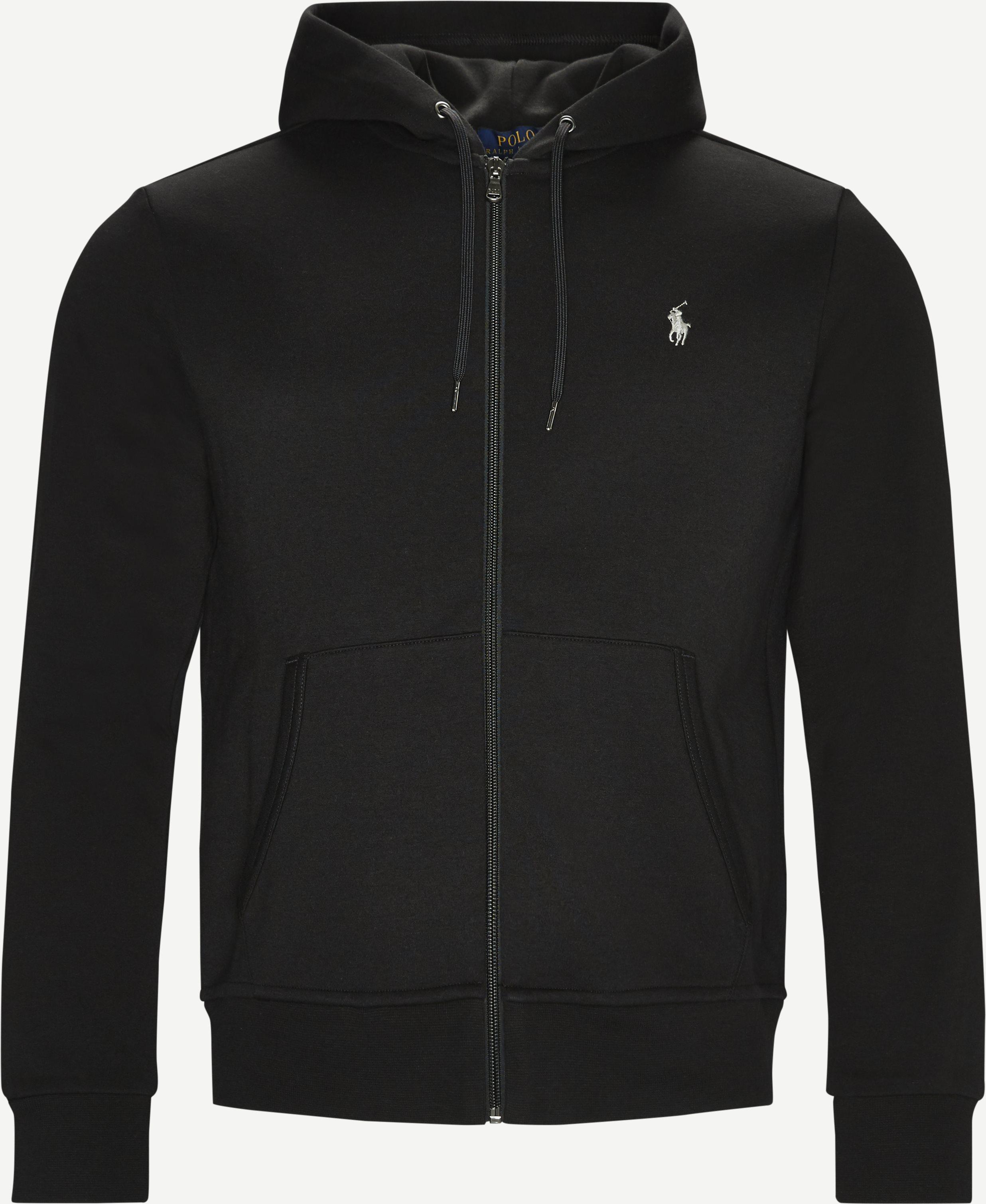 Tech Full Zip Hoodie - Sweatshirts - Regular fit - Sort