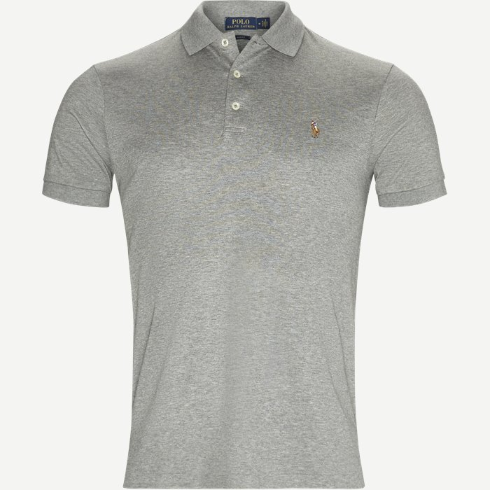 Cotton Polo T-shirt - T-shirts - Slim - Grå