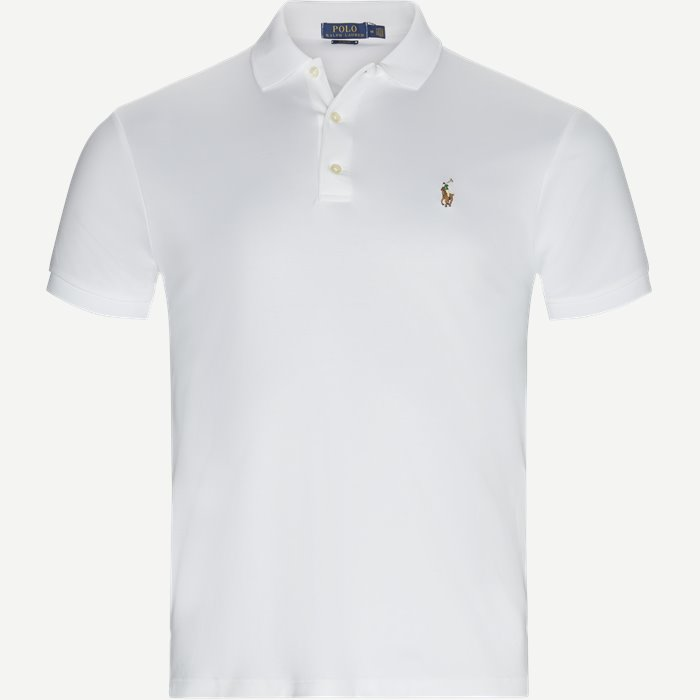 Cotton Polo T-shirt - T-shirts - Slim - Hvid