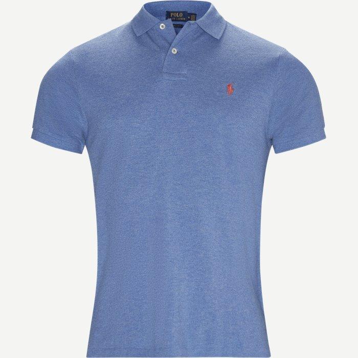 T-shirts - Regular slim fit - Blå