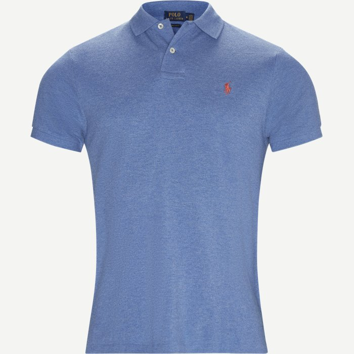 Short Sleeve Polo - T-shirts - Regular slim fit - Blå