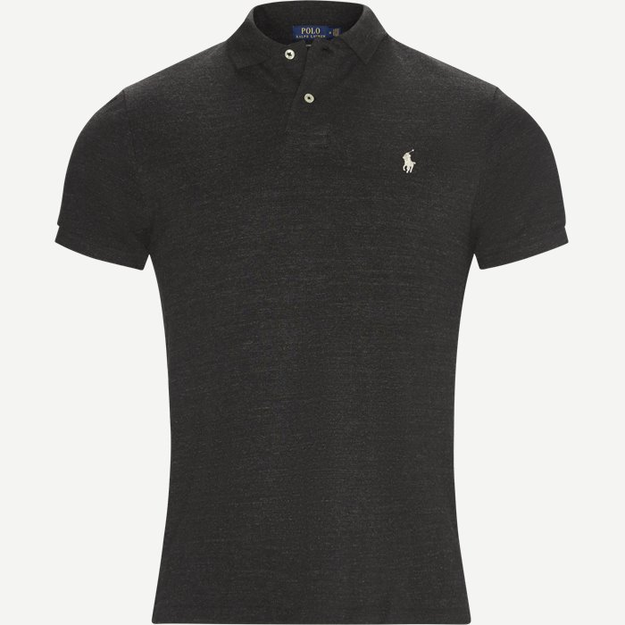 Short Sleeve Polo - T-shirts - Regular slim fit - Grå