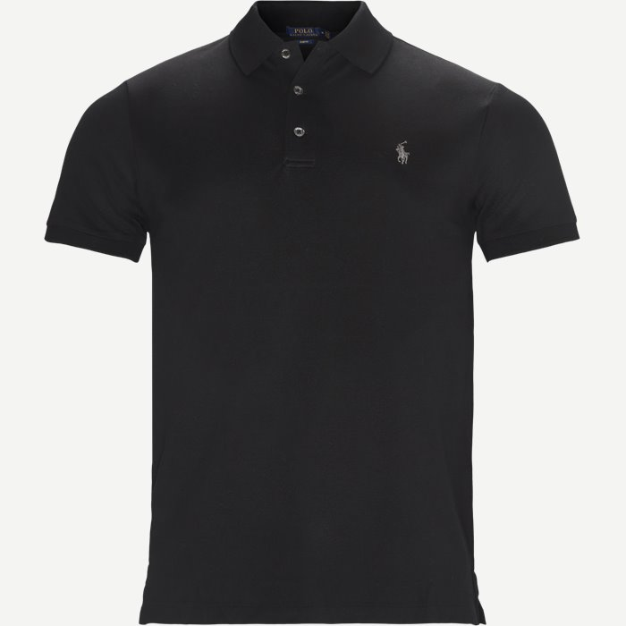 Short Sleeve Pique Polo - T-shirts - Slim - Sort