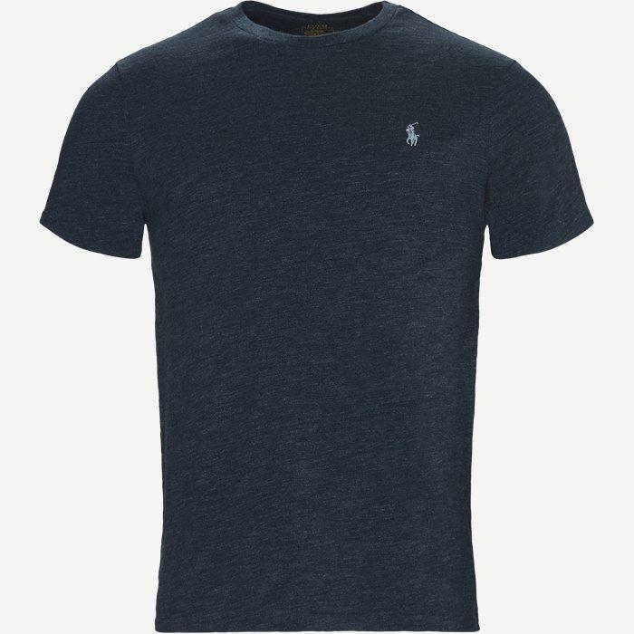 Crew Neck Tee - T-shirts - Regular slim fit - Blå