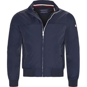 Rib Bomber Jacket Regular | Rib Bomber Jacket | Blå
