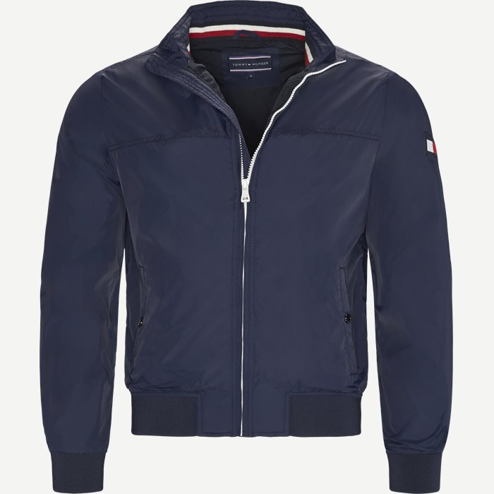 Rib Bomber Jacket - Jakker - Regular - Blå