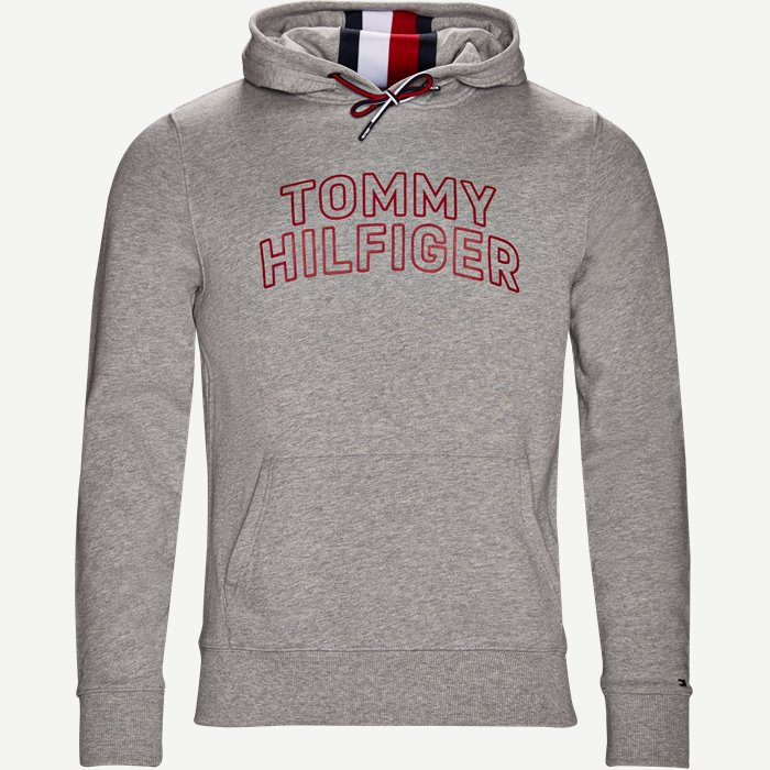 Chest Logo Hoody - Sweatshirts - Regular - Grå