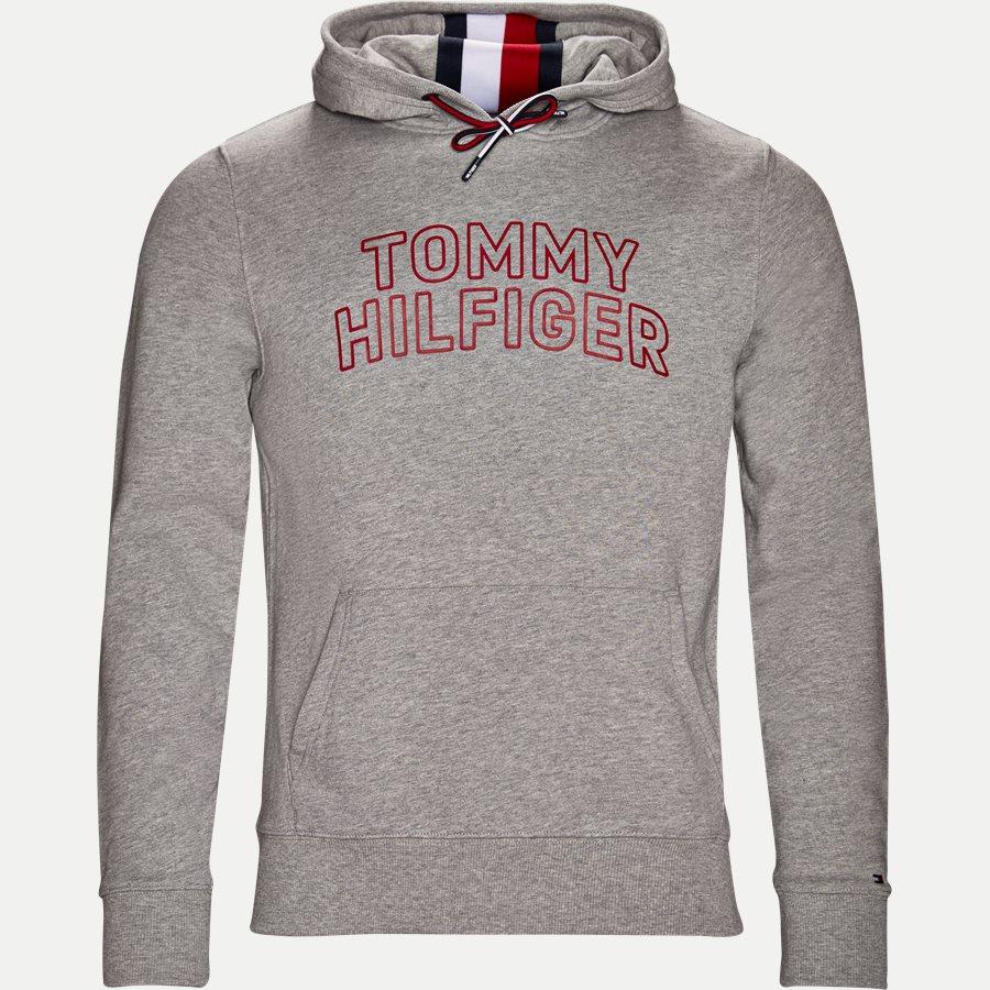TOMMY CHEST LOGO HOODY - Chest Logo Hoody - Sweatshirts - Regular - GRÅ - 1