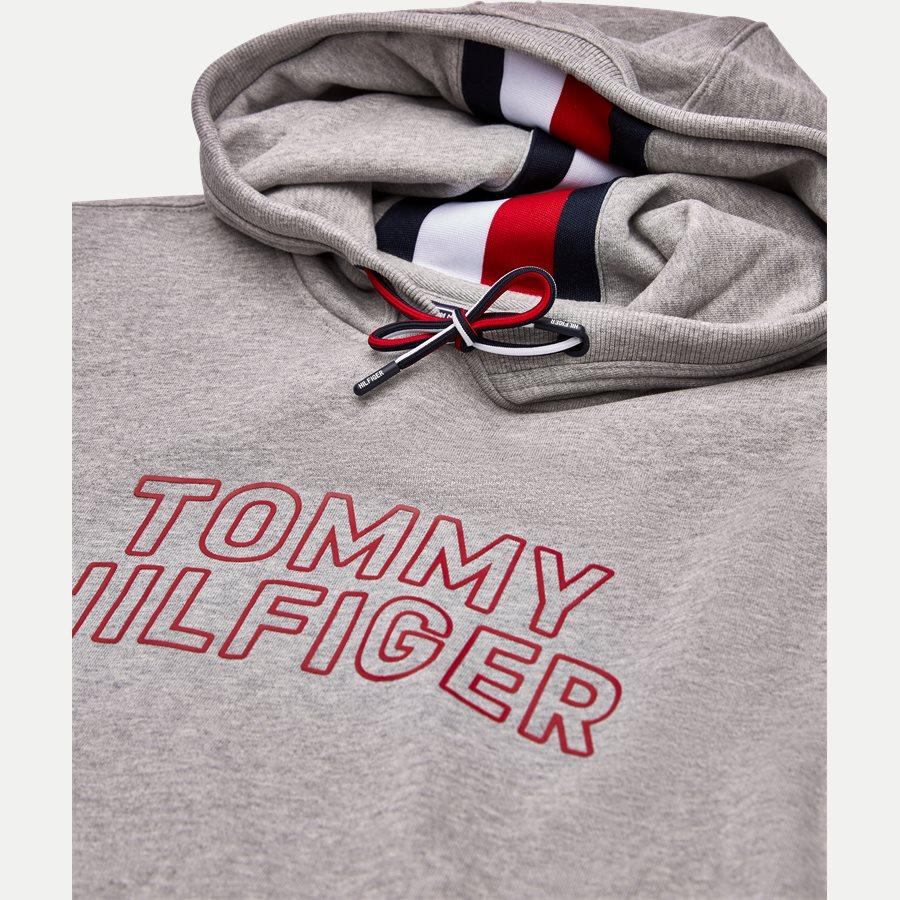 TOMMY CHEST LOGO HOODY - Chest Logo Hoody - Sweatshirts - Regular - GRÅ - 3