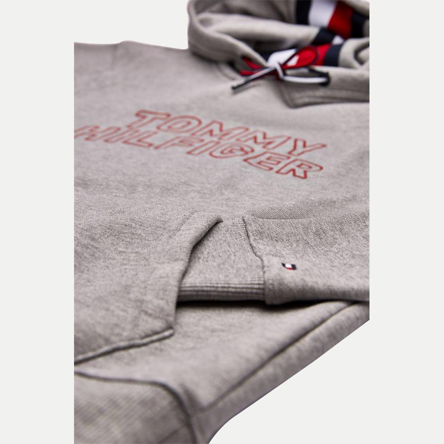 TOMMY CHEST LOGO HOODY - Chest Logo Hoody - Sweatshirts - Regular - GRÅ - 4