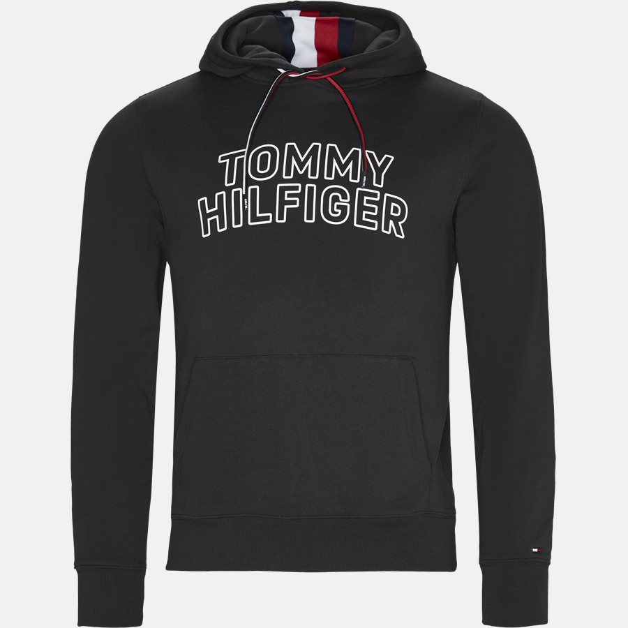 TOMMY CHEST LOGO HOODY - Chest Logo Hoody - Sweatshirts - Regular - SORT - 1