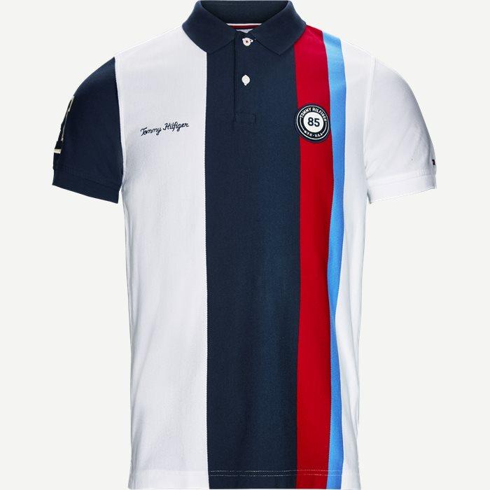 Multi Badge Polo T-shirt - T-shirts - Slim - Hvid