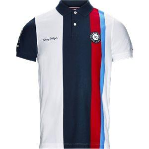 Multi Badge Polo T-shirt Slim   Multi Badge Polo T-shirt   Hvid
