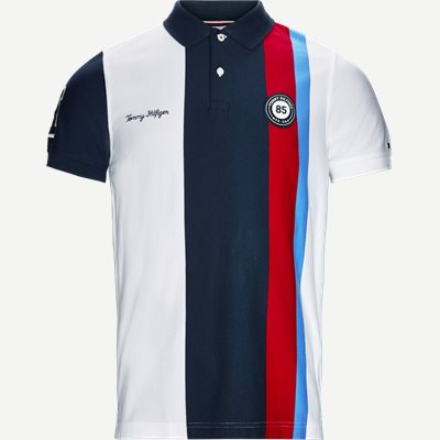 Multi Badge Polo T-shirt Slim | Multi Badge Polo T-shirt | Hvid
