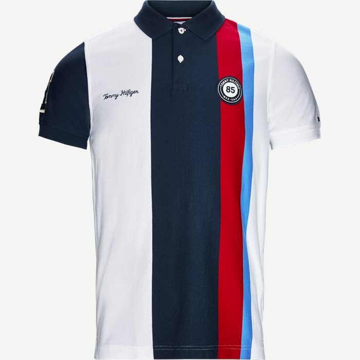 Multi Badge Polo T-shirt - T-shirts - Slim - Hvid