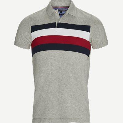 Chest Stripe Polo T-shirt Slim | Chest Stripe Polo T-shirt | Grå