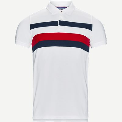 Chest Stripe Polo T-shirt Slim | Chest Stripe Polo T-shirt | Hvid