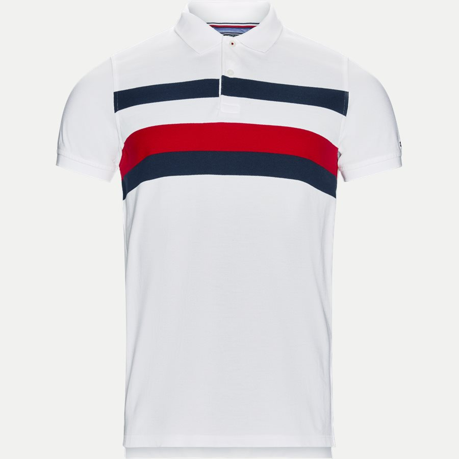 e680b0c6 TOMMY CHEST STRIPE - Chest Stripe Polo T-shirt - T-shirts - Slim. Tommy  Hilfiger