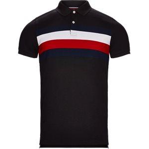 Chest Stripe Polo T-shirt Slim | Chest Stripe Polo T-shirt | Sort
