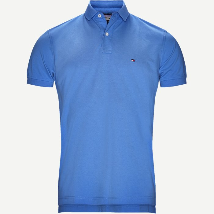 Pique Polo T-shirt - T-shirts - Regular - Blå