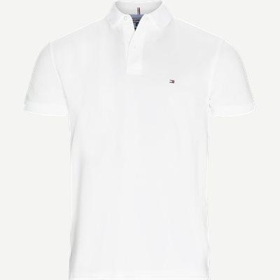 Pique Polo T-shirt Regular   Pique Polo T-shirt   Hvid