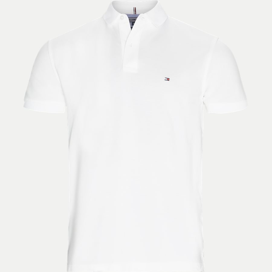 TOMMY REGULAR POLO. - Pique Polo T-shirt - T-shirts - Regular - HVID - 1