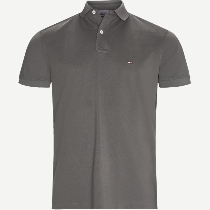 Pique Polo T-shirt - T-shirts - Regular - Grå