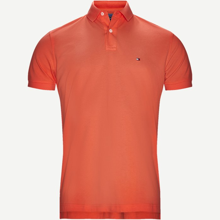Pique Polo T-shirt - T-shirts - Regular - Orange