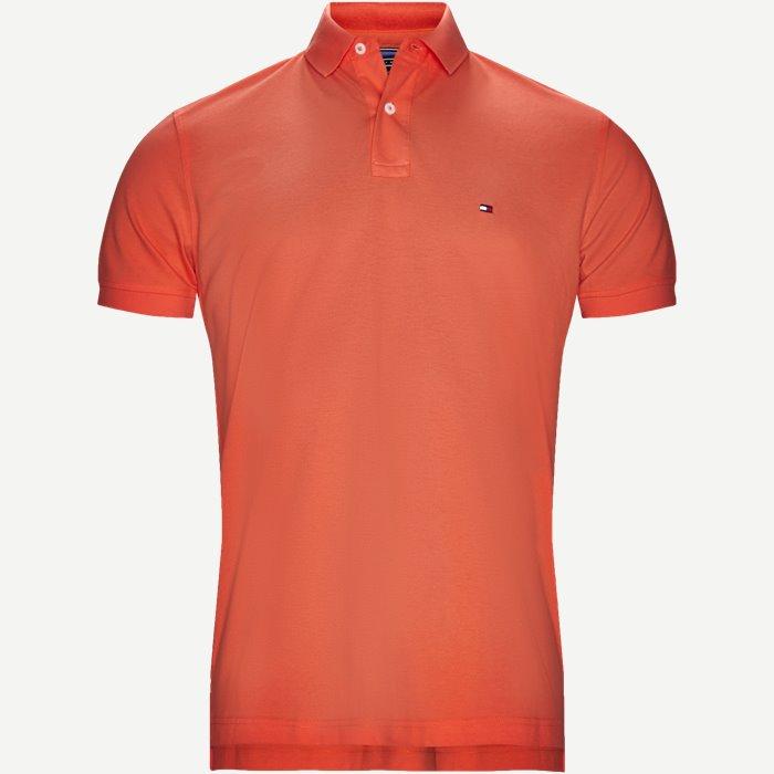 Pique Polo T-shirt - T-shirts - Regular - Orange
