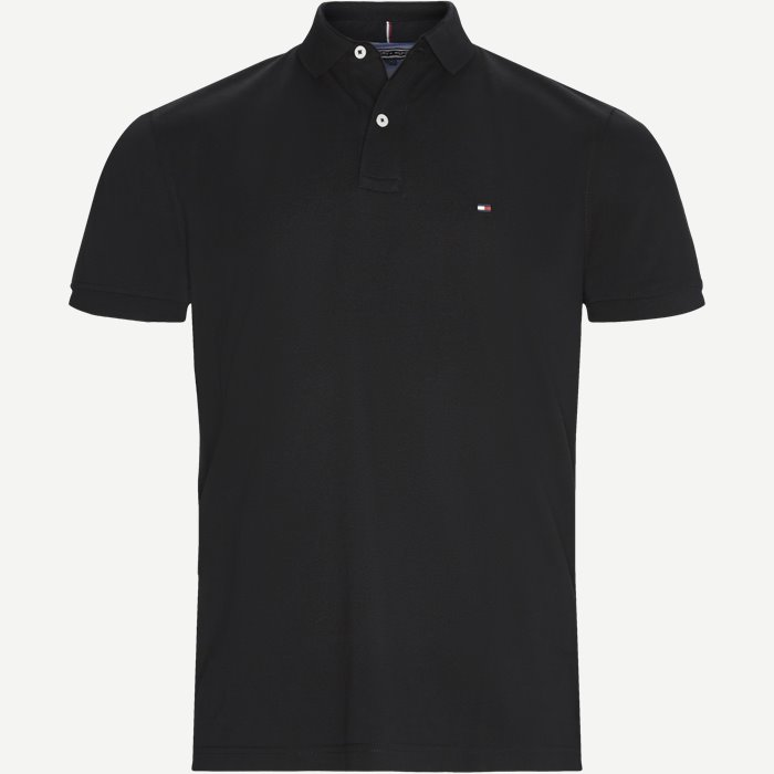 Pique Polo T-shirt - T-shirts - Regular - Sort