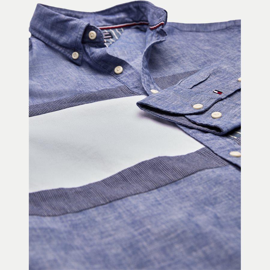 FLAG PATCHWORK SHIRT - Flag Patchwork Shirt - Skjorter - Regular - BLÅ - 4