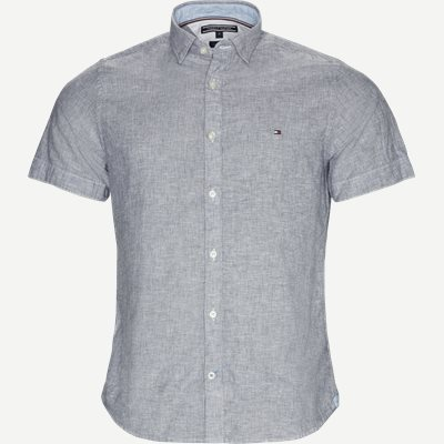 Short Sleeve Fine Stripe Shirt Regular | Short Sleeve Fine Stripe Shirt | Blå