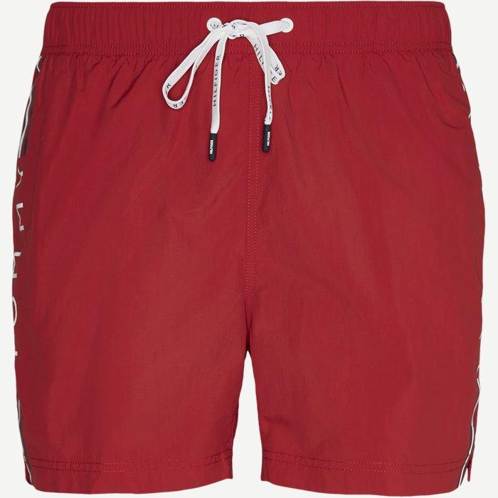 Drawstring Badeshorts - Shorts - Regular - Rød