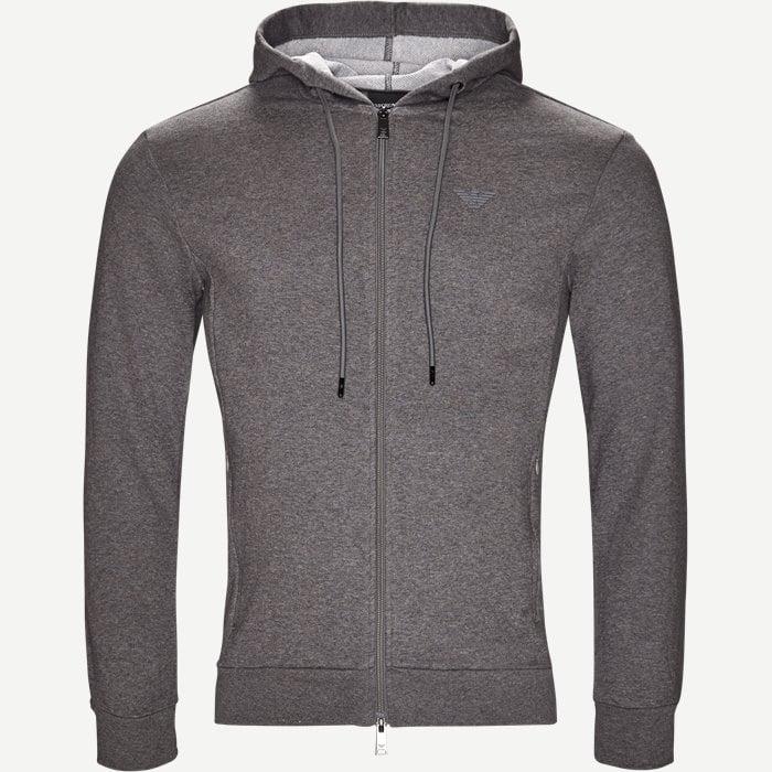 Hoodie Sweatshirt - Sweatshirts - Regular - Grå